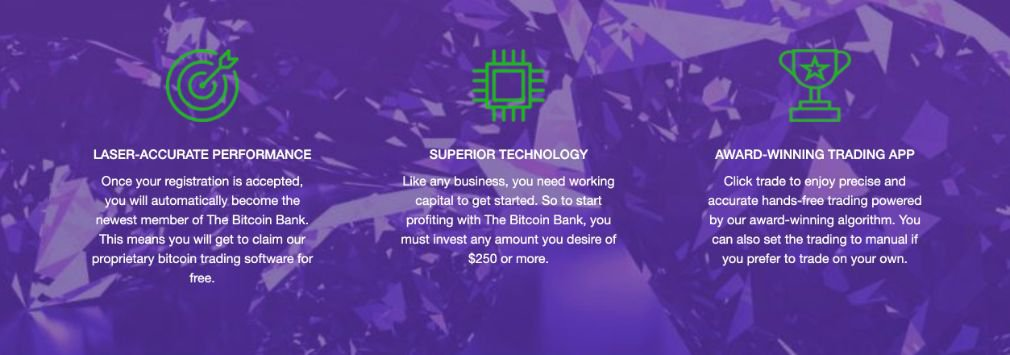 Bitcoin Bank advantage