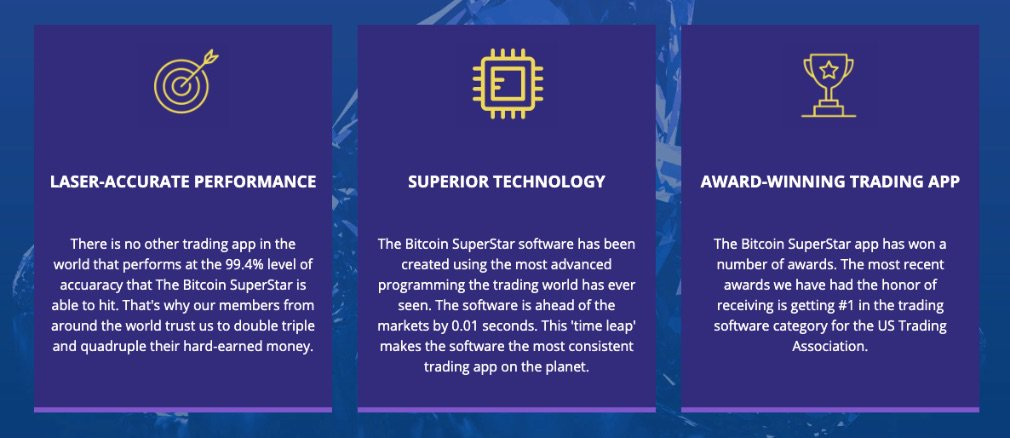 Bitcoin Superstar benefits