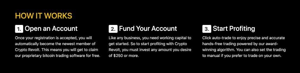 Crypto Revolt how it works