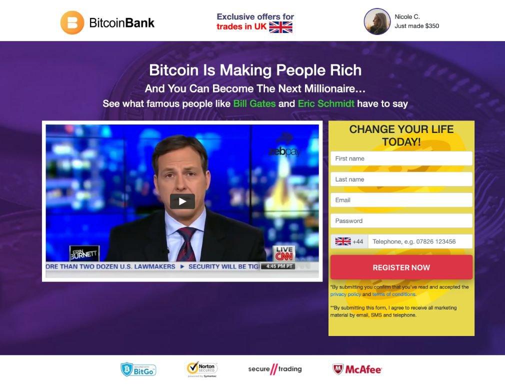 Bitcoin Bank Avis