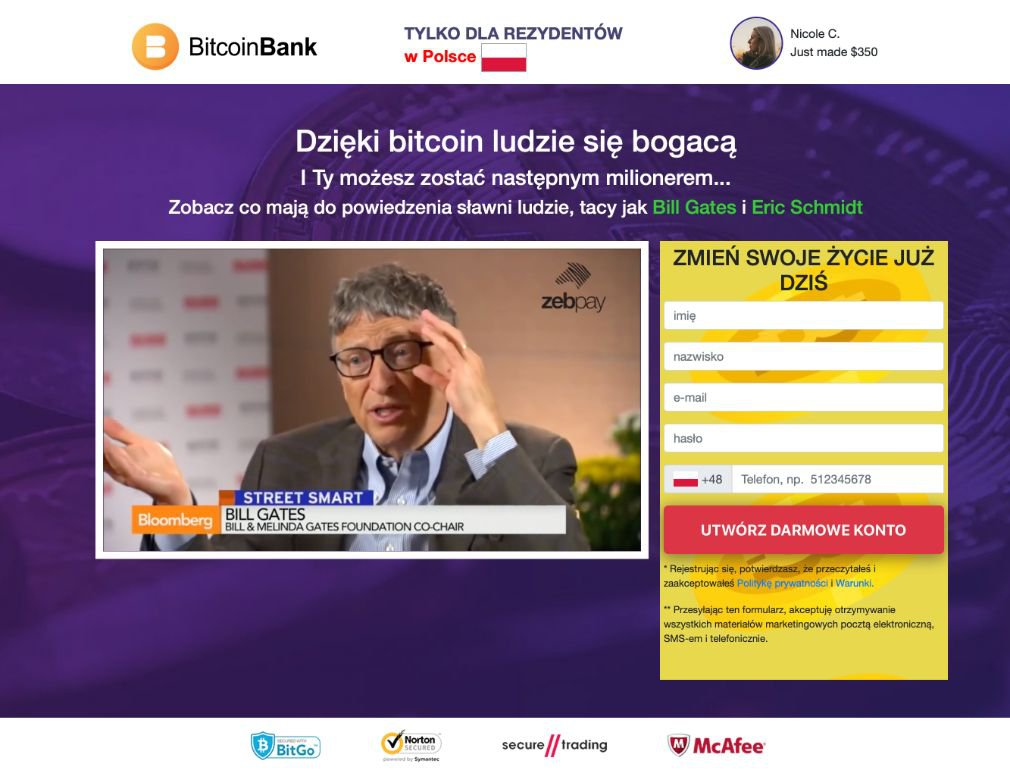 Bitcoin Bank Opinie