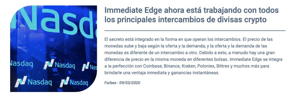 Immediate Edge Ventajas