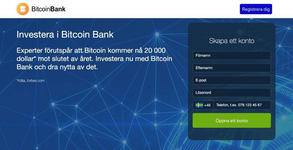 Bitcoin Bank Recension