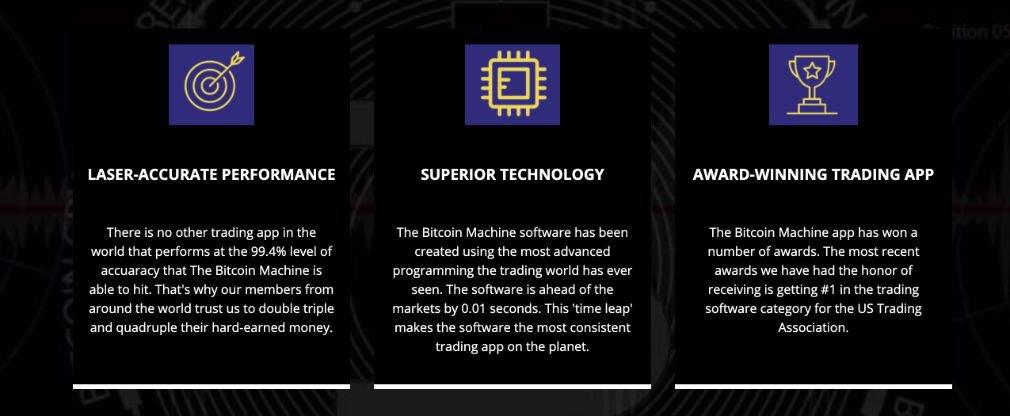 Bitcoin Machine benefício