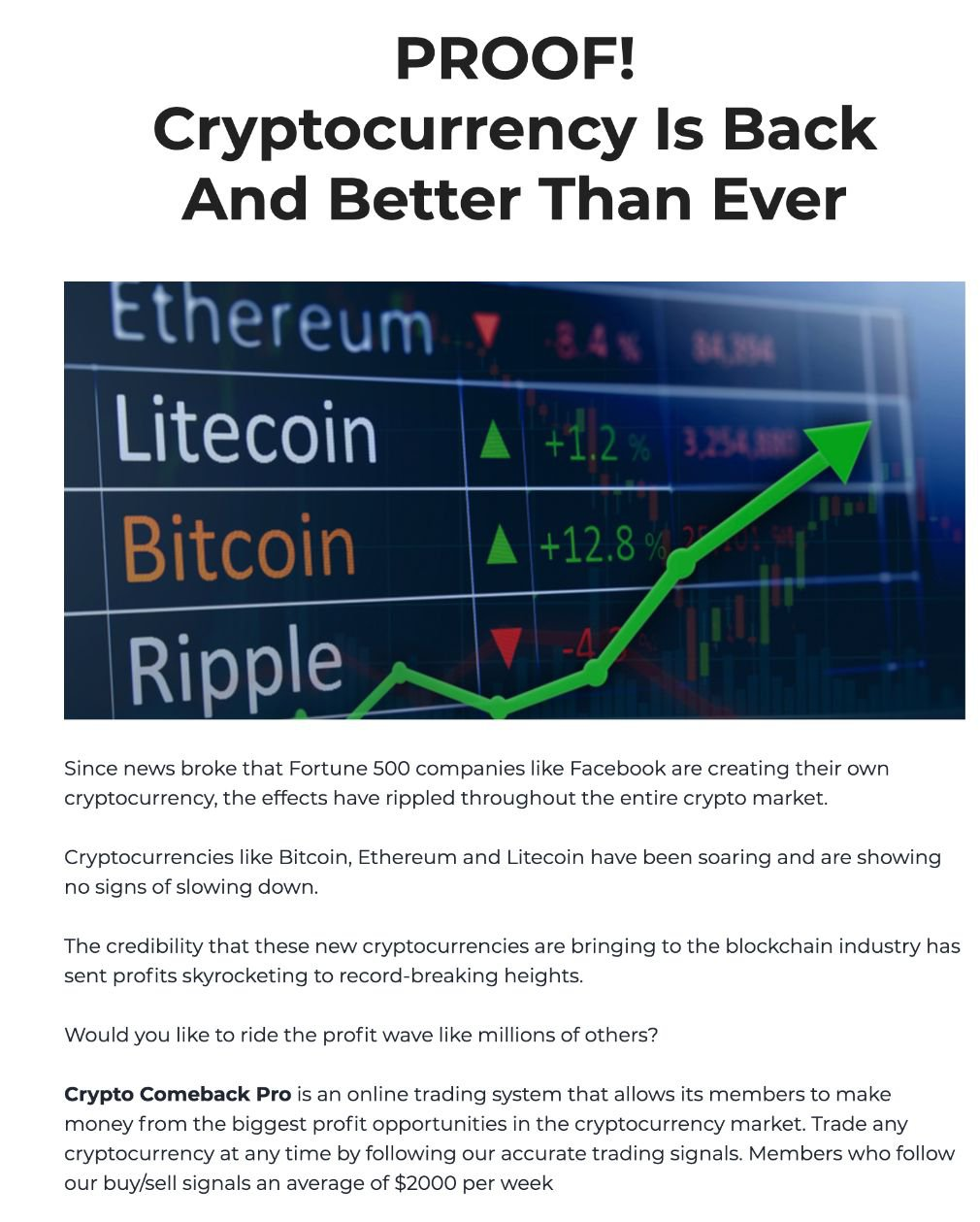 Crypto Comeback Pro Pro how it works
