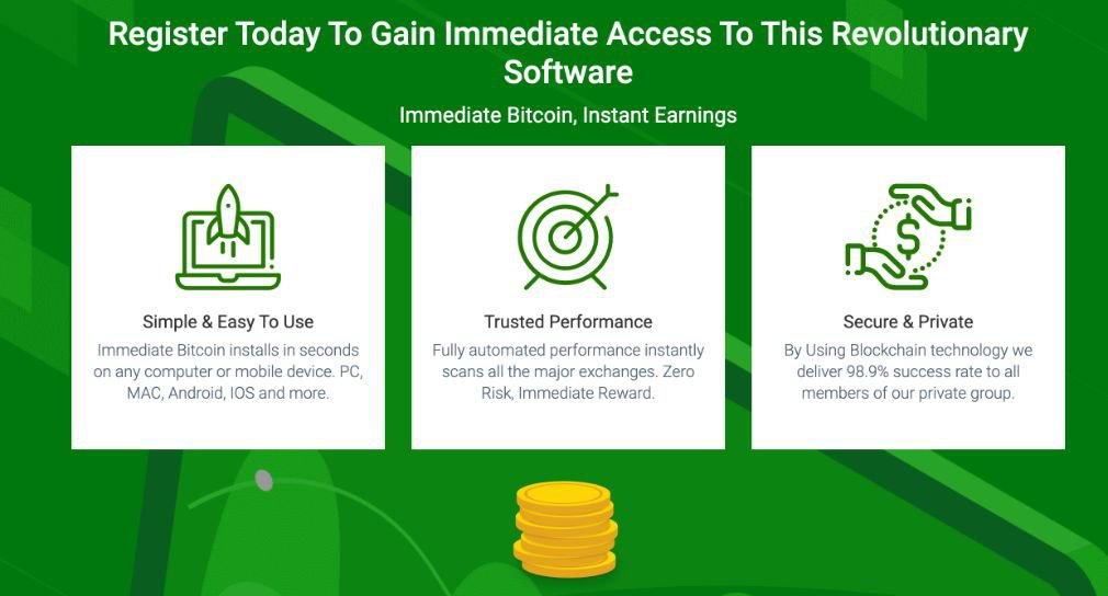 Immediate Bitcoin benefits