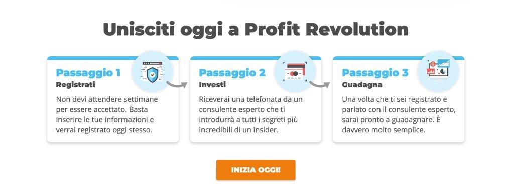Profit Revolution aprire un account