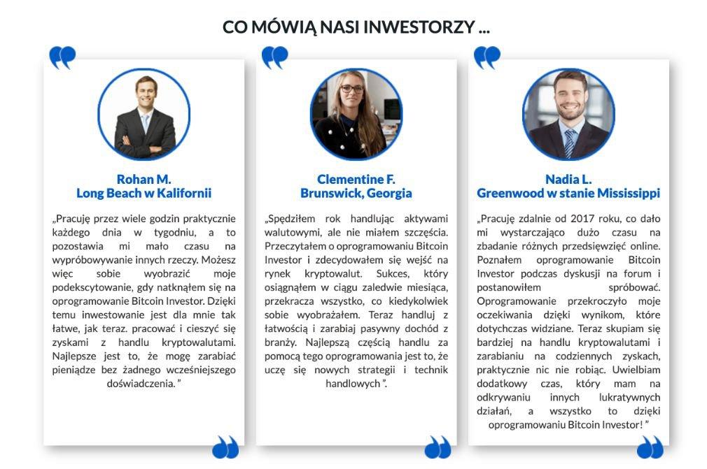 Bitcoin Investor Użytkownicy