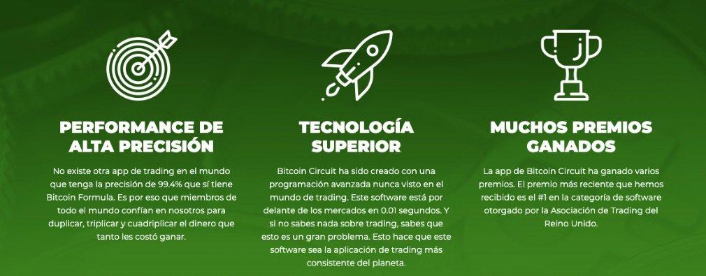 Bitcoin Circuit Ventajas