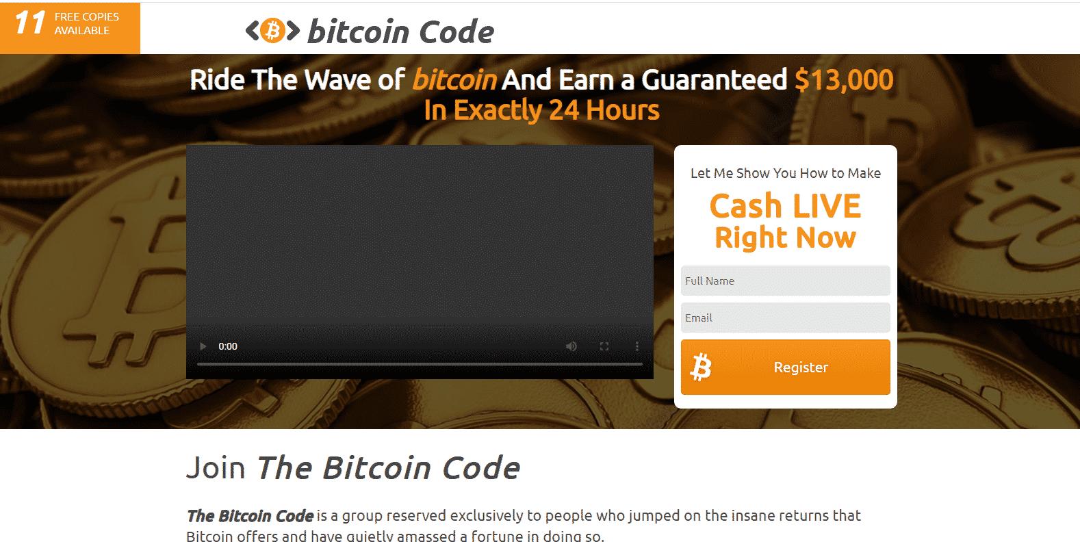Bitcoin Code-kaupankäyntialusta