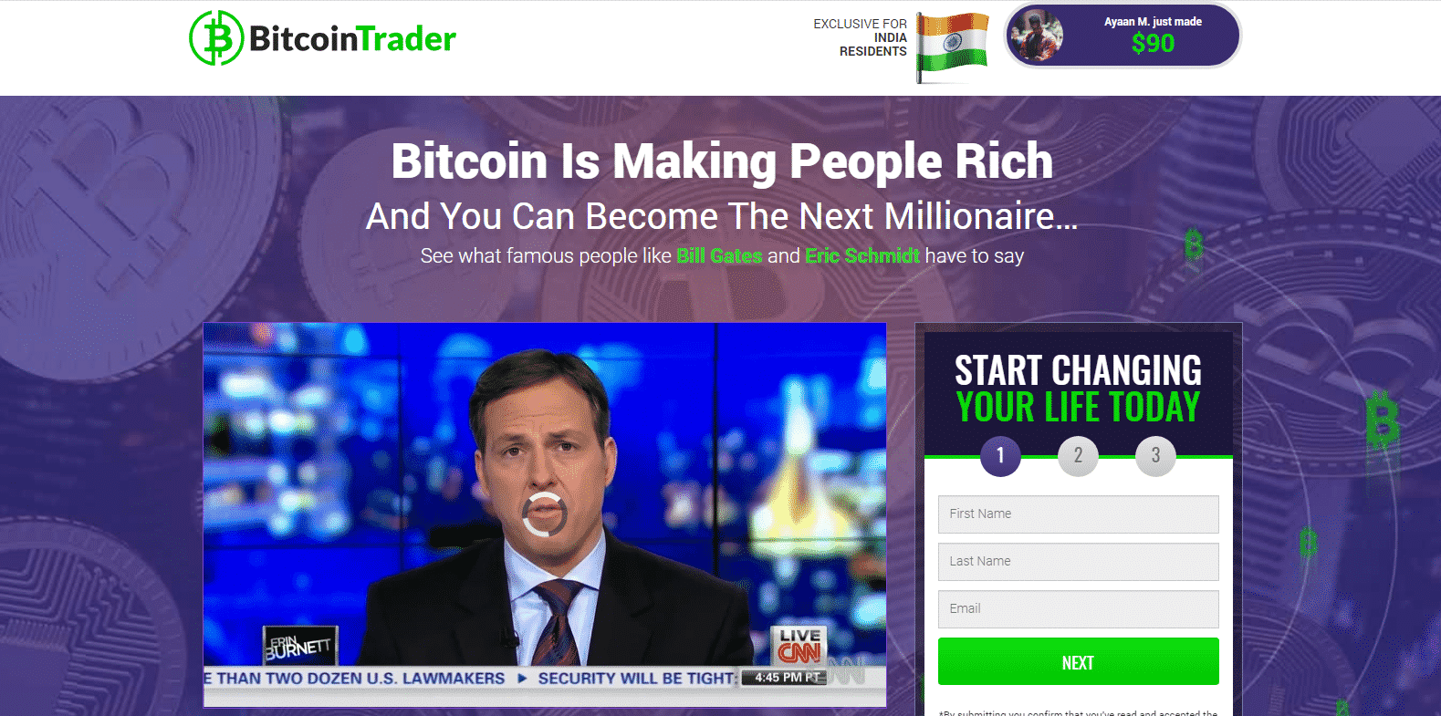 Bitcoin Trader-kaupankäyntialusta